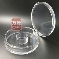 厂家订做透明亚克力塑料圆盒 带磁铁石翻盖佛珠手链包装盒子批发