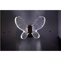 麦极客智能水晶汽泡小壁灯 现代简约小夜灯 蝴蝶壁灯