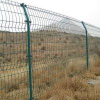 万亩农场围栏防护网 包塑铁丝护栏 双边丝护栏网介绍
