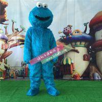 绿和卡通芝麻街蓝娃卡通人物服装蓝蛙人穿行走活动cosplay道具动漫服饰