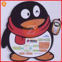 卡通公仔杯垫定制 腾讯企鹅QQ卡通杯垫 环保PVC公仔杯垫