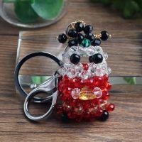 【财神】水晶钥匙挂件 串珠编制工艺品 招财 新年礼物礼品挂件