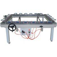 丝印拉网机 精密机械涡轮涡杆双铝夹头拉网机 印前设备绷网机