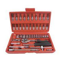 46件套筒组套工具 螺丝批汽修工具S2材质套筒 五金工具箱套装组合