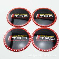 丰田TRD运动改装轮毂盖标贴 凯美瑞皇冠 卡罗拉普拉多胎铃盖贴