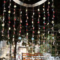 纯棉木珠精品布艺动物门帘 厂家批发精品原创家居装饰品