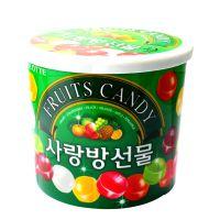 进口糖果 韩国乐天 乐天七彩爱情水果糖234g*12盒/箱 零食品批发