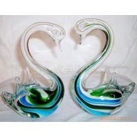 供应玻璃工艺品琉璃工艺品工艺品15#花天鹅