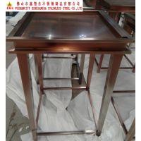 红古铜不锈钢展示架 珠宝不锈钢展示柜 展柜厂家专业订做