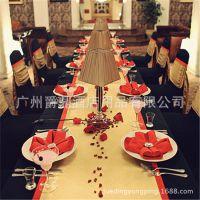 厂家特价直销酒店连体椅子套宴会婚庆红色椅套餐厅饭店凳子套定做