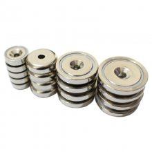 金聚进 供应:箱包磁铁、皮具磁铁、包装强力单面强磁垫片 钕铁硼材料
