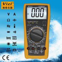 维希Vici VC9804A+ 3位半数字万用表 电容测量2000μF 带温度频率测量