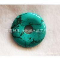 水晶工艺品 挂件 水晶批发  绿松石平安扣
