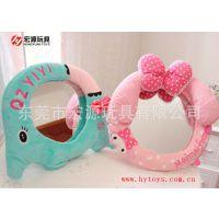 手工DIY毛绒玩具 害羞情侣小熊猫镜子卡通随身带小镜子挂件创意女