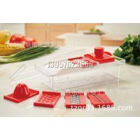 外贸出口定制多功能切菜器 沙拉机 厨房用品工具 多件套切菜器