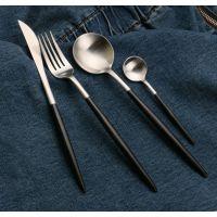 供应新品全304不锈钢餐具西餐厅刀叉勺用品高档酒店餐饮用品套装批发