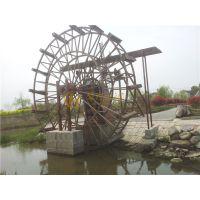 防腐木水车风车水车制作厂景观水车木制水车 1-10米均可定做