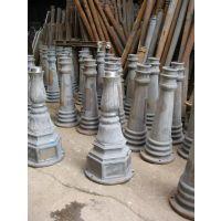 供应庭院灯三环六角沙铸铝铸铁底座灯杆花枝中固厂家路灯价格