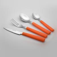 乐诚餐具套装 塑料手柄24件套礼品餐具
