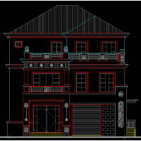 简约大方三层平屋顶农村自建房平面图(含效果图)11.5x17米