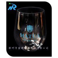 供应塑料透明酒杯|可印刷高档啤酒杯