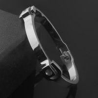 钛钢饰品批发 简约方块手镯 女士韩版手环 速卖通货源外贸 银色款