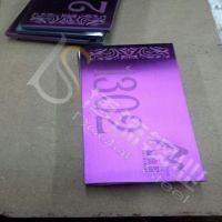 供应太原304不锈钢蚀刻制品价格 紫红不锈钢标示牌生产厂家 不锈钢电镀加工