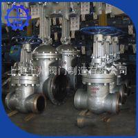 厂家长期供应上海上州 锘钼钢WC6高温高压闸阀 伞齿轮传动闸阀
