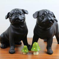 美式树脂精品创意摆件 树脂斗牛犬一组巴哥犬高档软装家饰工艺品