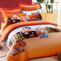 床上用品全棉四件套 全活性纯棉卡通四件套 床单婚庆床品批发代发