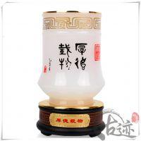 【古迹印象】中国书法印章琉璃玉笔筒摆件商务礼品办公室工艺品