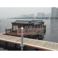 广东出售木船 餐饮画舫船 电动船机动船 得胜湖木船厂家定制