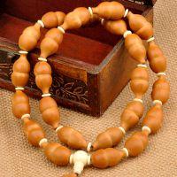 葫芦项链 橄榄胡橄榄核雕刻项链福禄双全葫芦手串手链