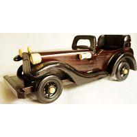 供应木制大老爷车 木制玩具模型 玩具汽车模型 怀旧复古10寸A