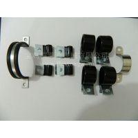 福莱通蛇皮管管夹 包胶金属管夹 包塑骑马卡子 金属线夹 优质耐用