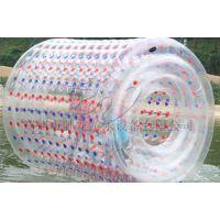 卧龙厂家一次性充气水上漂浮物 透明水上滚筒