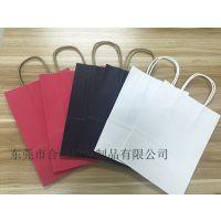 厂家批发订制彩色牛皮纸手提袋 创意服装购物简约 礼品纸袋 加logo印广告宣传袋