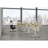 广州名飞供应简约板式公司培训会议台 脚架可折叠的会议桌培训台 定做台面侧翻的多功能桌子
