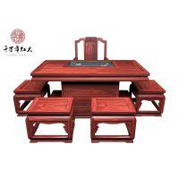 千百年红木 红酸枝家具 古典中式宁静致远茶台