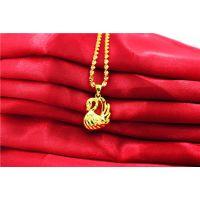 仿真黄金水波纹饰品欧币项链 时尚欧币饰品 女款天鹅