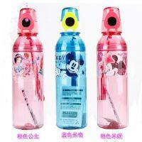 引玉-新款迪士尼防漏儿童软吸管水壶新力4232 550ML直饮水瓶