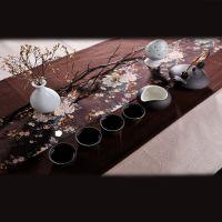 单色釉瓷茶具 瓷质功夫茶具套装特价 高档礼盒茶具套装批发