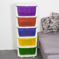 厂家批发纳份爱宜家抽屉盒收纳盒食品级多层塑料储物彩色柜糖果盒