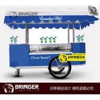 遮阳布顶 冰淇淋雪糕果汁零售移动花车 冰棍饮料啤酒咖啡售货花车