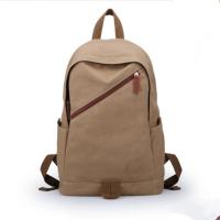 宏兆工厂定制韩版时尚帆布双肩包2016新款初中学生书包