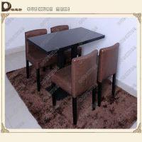 西餐厅实木长方形四人位桌子 现代中式 布艺椅子欧迪轩厂家定做