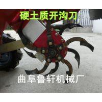 小型开沟机视频 大葱封葱开沟机设备 微型开沟机农用02