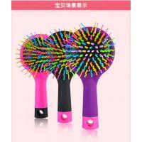 韩国正品Eye candy彩虹梳子美发气囊按摩卷发直发梳 防静电魔 梳