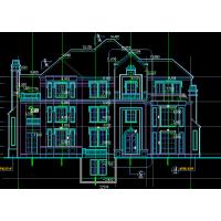 北美风格三层坡屋顶砖混自建别墅户型图24x17.5米