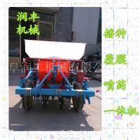 全新花生种植设备 手扶车带动花生点播种机 润华机械